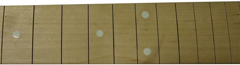 Накладка грифа с точками